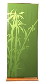 """Details zu Greenline-Rollup """"Bambus flach""""  mit Bedruckung"""