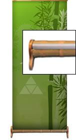 """Details zu Greenline-Rollup """"Bambus"""" inkl. Druck"""