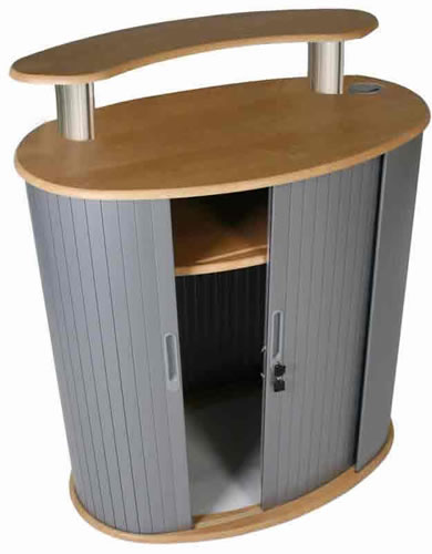 "Messetheke ""Oval Wrap"" (Theken und Counter)"
