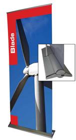 """Details zu Rollup-Display """"Blade"""" inkl. Bannerdruck"""