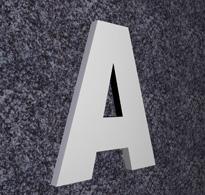 Fräsbuchstaben (PVC)
