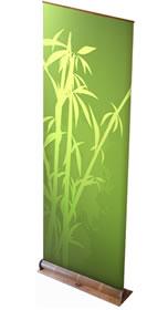 """Details zu Greenline-RollUp """"Bambus rund""""  mit Bedruckung"""