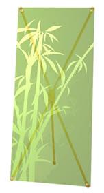 """Details zu Greenline-X-Banner """"Bambus"""""""