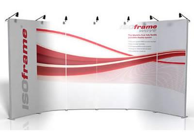 "Details zu Modulare Messewand ""IsoFrame Wave"""