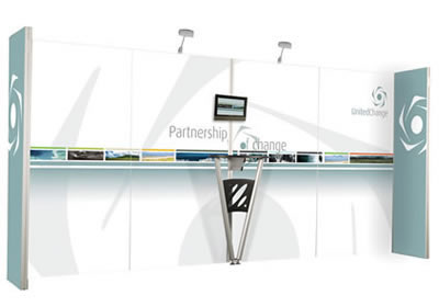 "Details zu Messewand ""VectorStand"" inkl. Bedruckung"