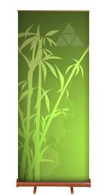 """Details zu Greenline-RollUp """"Bambus rund 2""""  mit Bedruckung"""