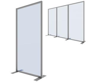 """Details zu Stabile Trennwand """"Vector"""" mit Plexiglas oder PVC"""