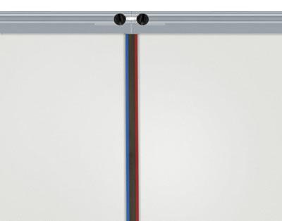 """Verbindung von zwei Systemen (Leichte Trennwand """"4screen Classic WALL"""")"""