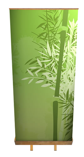 "Greenline-Rollup ""Bambus"" inkl. Druck (Rollups)"