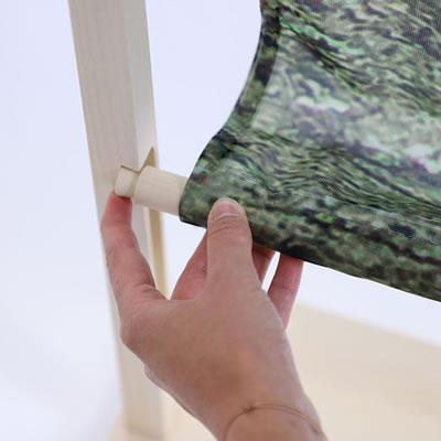 """Trennwand Wood mit Bildmotiv (Holzbanner """"Wood"""")"""