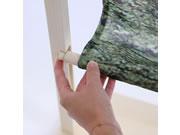"""Corona-Trennwand bestehend aus zwei Holzrahmen(Holzbanner """"Wood"""")"""