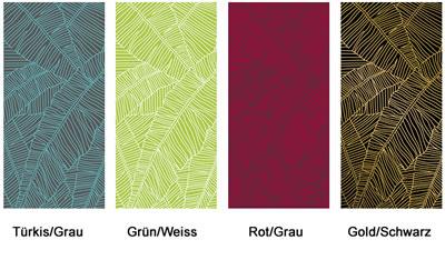 """Trennwand mit grüm-weißem Muster (Holzbanner """"Wood"""")"""