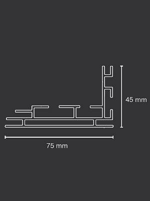 "Leuchtdisplay ""LED Leuchtkasten 75mm"" inkl. Druck"