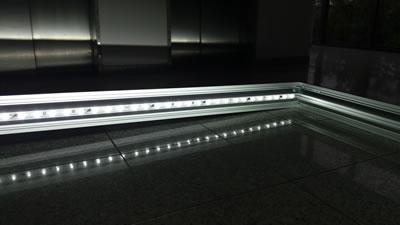 """Detailaufnahme_LED (Messewand """"ISOframe Lightbox"""")"""