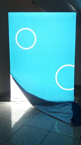 "Blick-auf-die-LEDs (Messewand ""ISOframe Lightbox"")"