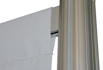 "Linear-Messewand: Textilanbringung (Messewand ""Linear Kit B"" inkl. Bedruckung)"