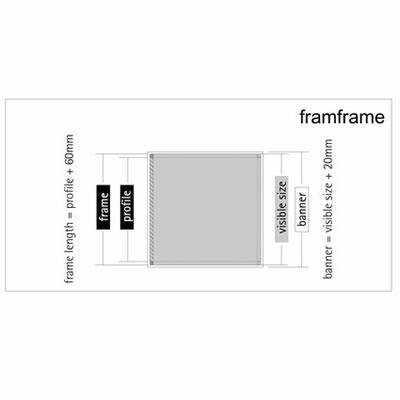 "Messewand ""Framframe"" inkl. Bedruckung"