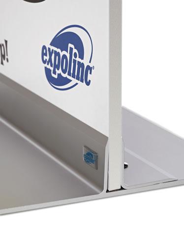"""Panel Base Seitenansicht (Leichter Plexiglas- oder PVC-Halter """"Panel Base""""  )"""