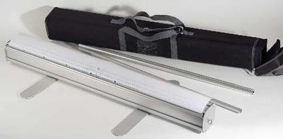 """RollUp mit Tasche (hier 85cm breit ohne Druckbahn) (Homeoffice-Rückwand """"Cool Budget 1"""" )"""