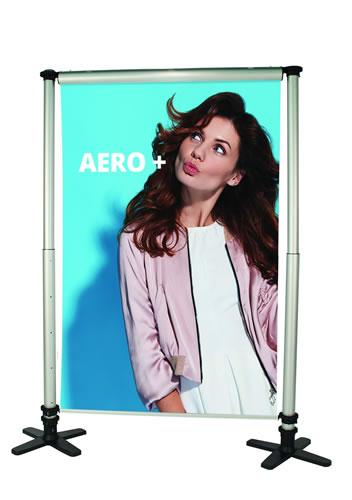 "Messewand ""Aero"" inkl. Bedruckung"