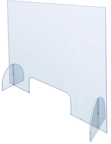 """Plexiglas-Wand """"CoSavX""""  90"""