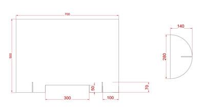 "Corona-Plexiglas-Schutz Maße (Plexiglas-Wand ""CoSavX""  70)"