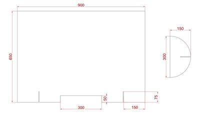 "Corona-Plexiglas-Schutz Maße (Plexiglas-Wand ""CoSavX""  90)"