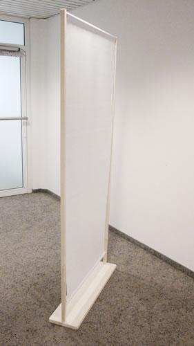 """Detailansicht des Fusses (Öko-Trennwand """"Wood"""")"""