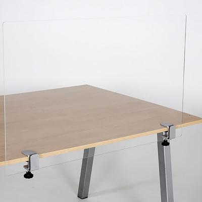 Tischklemme für Plexiglas- oder PVC-Scheibe