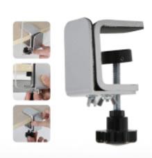 Tischklemme für Plexiglas- oder PVC-Scheibe (Corona_Abtrenner_Plexiglas-Schutz)