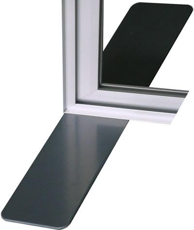 """Stabile Trennwand """"Vector"""" mit Plexiglas oder PVC"""