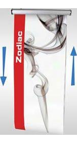 """Details zu Rollup-Banner """"Zodiac"""" Ersatzbahn"""